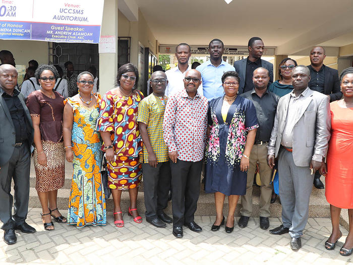 Speakers and some dignitaries who graced the colloquium