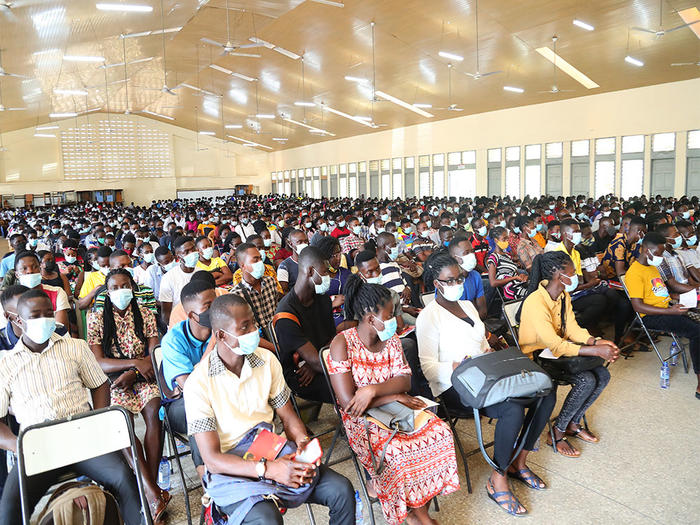 First Year Students going through orientation