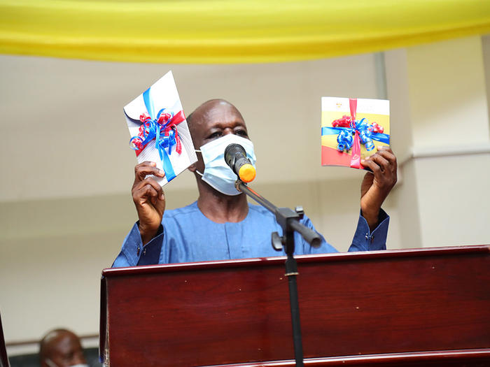 Dr. Paul Efah launching the two documents